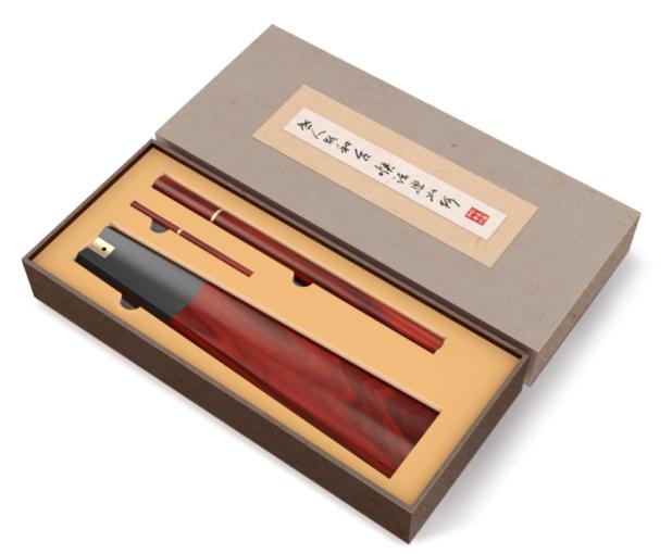 扇形香道3件套:老挝花酸枝+黄铜(豪华礼品装)