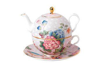 杜鹃一人悦享茶具
