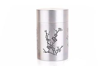 四季线雕茶罐套装