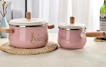 比得兔田园时光搪瓷套装锅-粉色