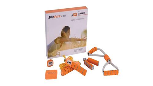橙色活力健身套装5件套