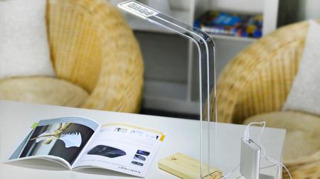 简洁木LED台灯