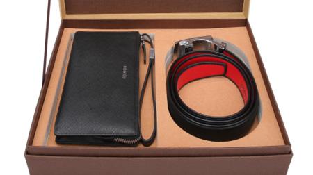 红谷-男士手包、皮带礼盒套装