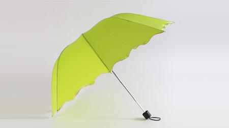 三折四节阿波罗荷叶边雨伞