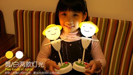 创意稻草人小夜灯 LED触碰感应灯USB充电台灯