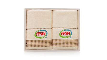 简约方格毛巾两条装(定制款)