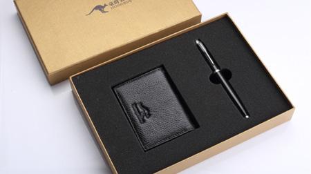 豪爵袋鼠名片夹+笔