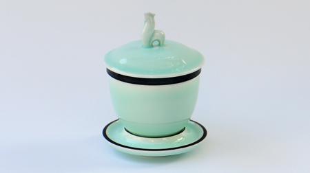 单只福手盖碗(鸡)茶杯