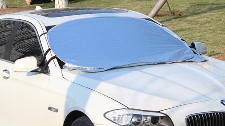 汽车用品 铝箔植绒汽车太阳挡 汽车用品定制 折叠遮阳挡 定做logo