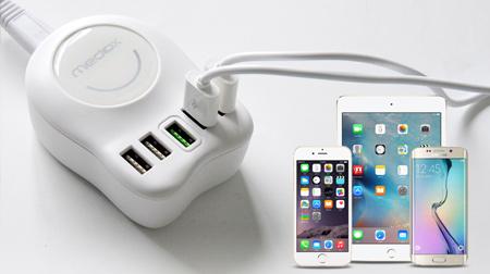 5口USB小麦充电器