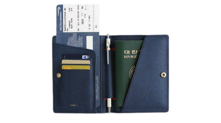 H-009B-1(PU带扣)护照包
