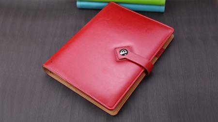 活页礼品笔记本、中国红钮扣笔记本