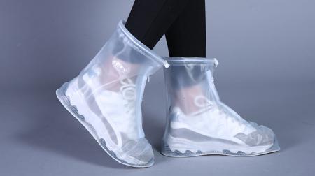 新款中筒款防水鞋套加厚防滑防尘冻防雨鞋套