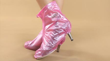 新款女士高跟防雨防水时尚雨鞋套 女士专款鞋
