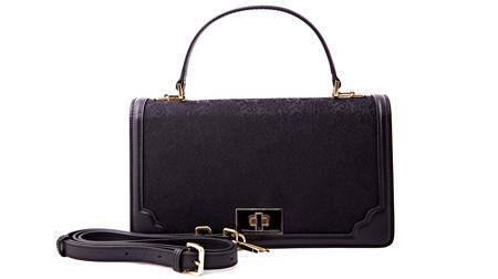 宋锦女士拎包 BWS6006黑色缠枝纹