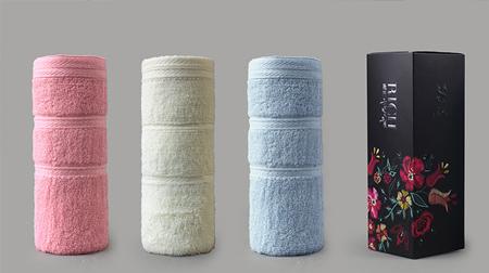 花值麦穗单条毛巾礼盒装