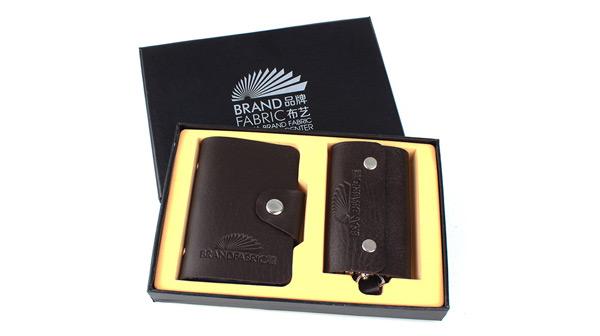 时尚卡包+钥匙包礼盒套装