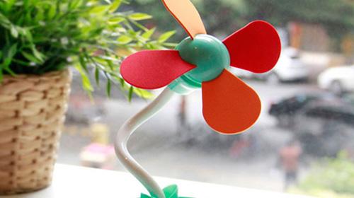 花盆充电风扇
