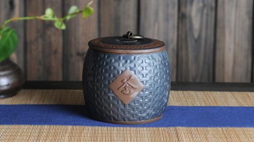 铁石釉茶仓茶叶罐