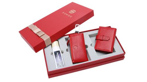 【红谷】女士钥匙包+卡包礼盒套装