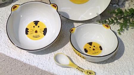 巧虎款式陶瓷儿童餐具套装