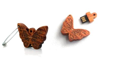 蝴蝶U盘钥匙扣
