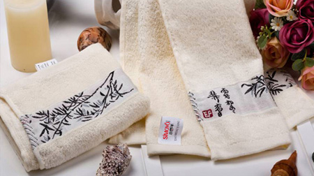 竹纤维竹韵抗菌毛巾