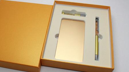 U盘16GB、移动电源、笔黄金组合3件套