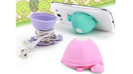乌龟绕线器/手机支架-硅胶