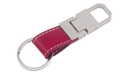 红色皮质钥匙扣