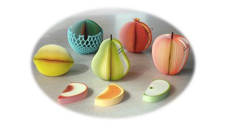 水果形状的便签纸