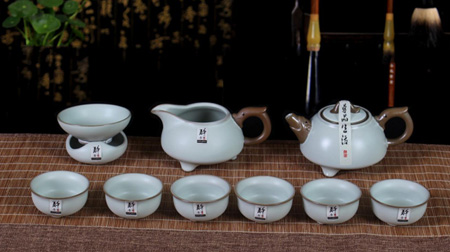 鼎盛辉煌汝窑茶具