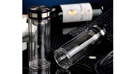 商务隔热水晶杯、双层玻璃杯