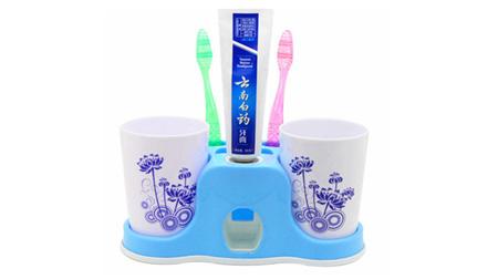 自动挤牙膏架