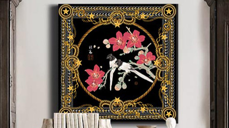 《春晓》艺术丝巾