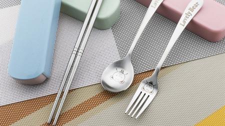 抽拉式餐具三件套(304泰吉熊)