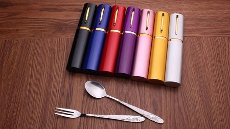 仙鹤铝盒餐具三件组
