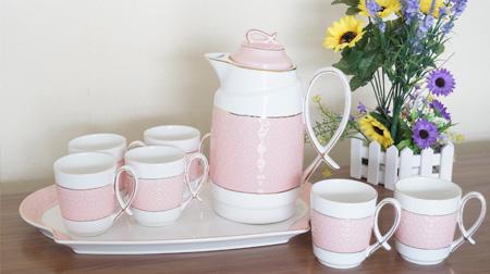 陶瓷水杯、水壶套装