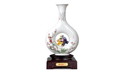 古法烧制琉璃+骨瓷花瓶