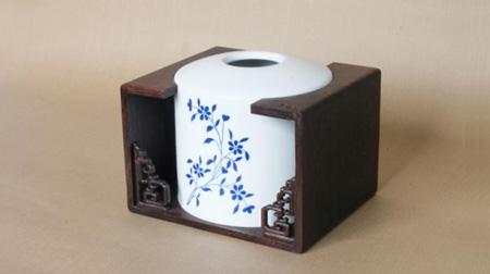 """""""青花""""纸巾盒"""