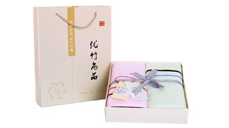 彩条毛巾家庭礼盒装