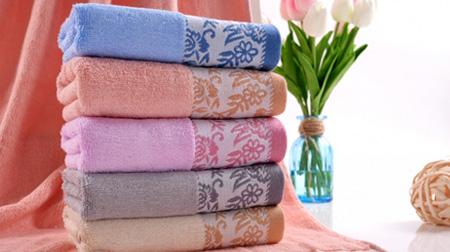 色织提花大毛巾单条装