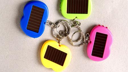 苹果型太阳能钥匙扣