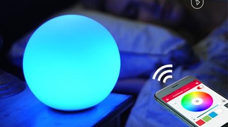MIPOW麦泡智能炫彩球形灯Playbulb卧室床头夜灯家居氛围LED节能灯