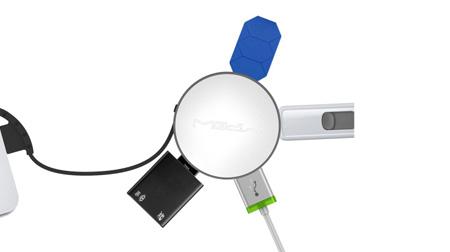 MIPOW usb分线器笔记本台式电脑usb hub集线器高速多 4个扩展接口