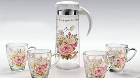 粉玫瑰水壶5件套