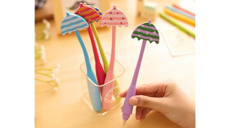 雨伞弯曲笔