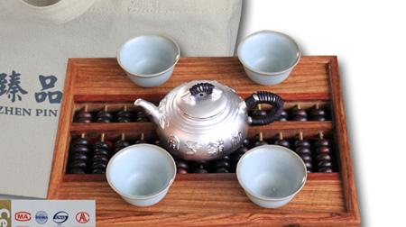 竹报平安——纯银茶壶