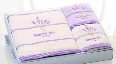 浪漫薰衣草浴巾、毛巾套装