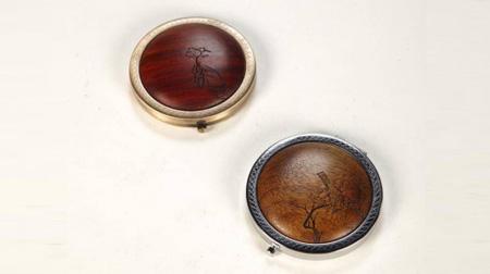 紫檀、金丝楠弧面镜(喜上眉梢款)